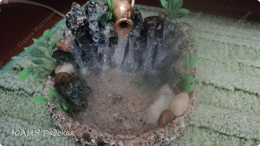 Мастер-класс Поделка изделие Моделирование конструирование МК Водопада  Клей Песок фото 1