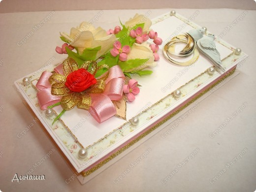 Добрый вечер страна! Сегодня у меня свадебный набор: открытка, коробочка для денег и кусудама. фото 7