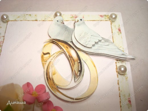 Добрый вечер страна! Сегодня у меня свадебный набор: открытка, коробочка для денег и кусудама. фото 8