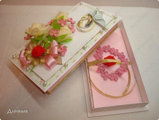 Добрый вечер страна! Сегодня у меня свадебный набор: открытка, коробочка для денег и кусудама. фото 9
