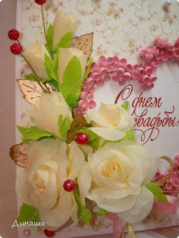 Добрый вечер страна! Сегодня у меня свадебный набор: открытка, коробочка для денег и кусудама. фото 3