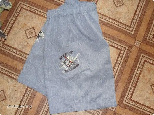 Усложненная версия. Притачной пояс (наверно так называется). 2 кармана. шнурок. на одном кармане люверсы  фото 2