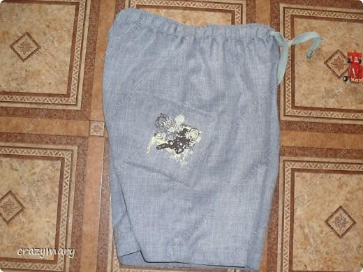 Усложненная версия. Притачной пояс (наверно так называется). 2 кармана. шнурок. на одном кармане люверсы  фото 3