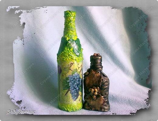 Две бутылочки с общей тематикой винограда) фото 12