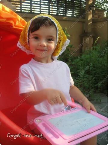 Косыночка для девочки (+схема и описание) фото 5