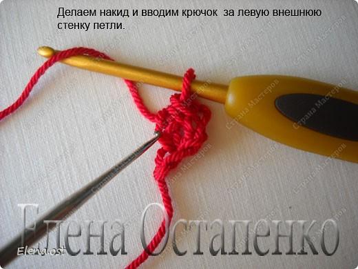Мастер-класс Вязание Вязание крючком Эластичный наборный край крючком Пряжа фото 26