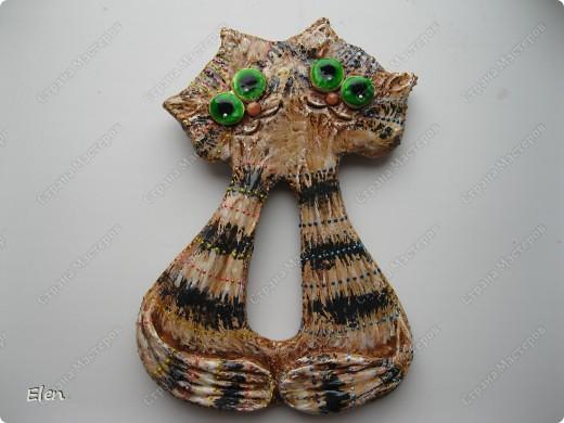 Кошка из гипса,цветочки хф фото 2