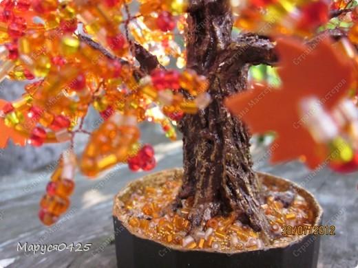 """Подвеска """"Дерево жизни"""". У меня получился клён. На этом фото видно где бумага. фото 4"""