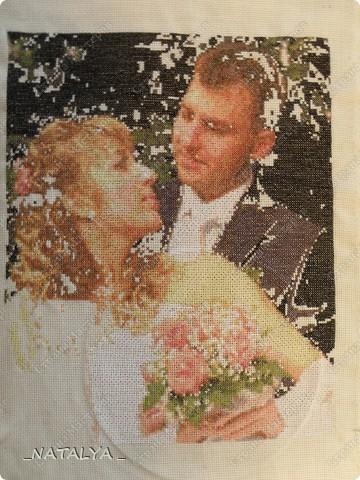 Подарок брату на годовщину свадьбы!Размер вышивки 32см.х39,5см. фото 3