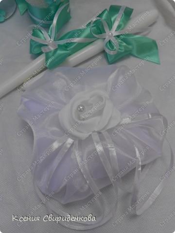Недавно выполняла необычный заказ. Невеста пожелала набор в мятном цвете. Выношу на ваш суд то, что получилось. фото 2