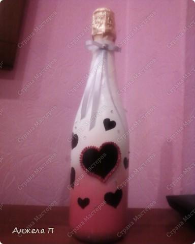 Бутылочка шампанского в подарок на годовщину свадьбы. фото 1
