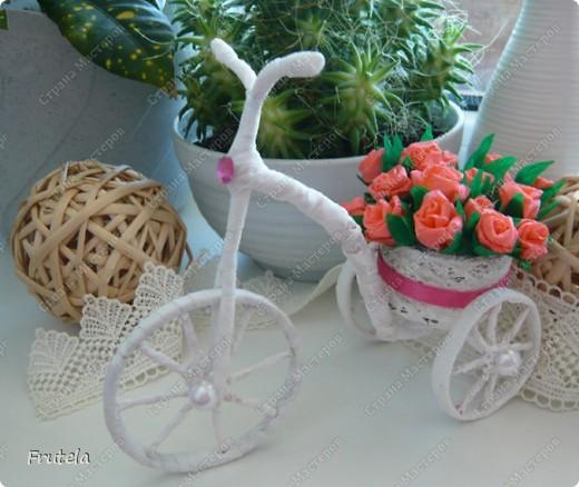 Насмотрелась я цветочных велосипедов,сделанных руками других мастериц ,вдохновилась и решилась на свой)) фото 23