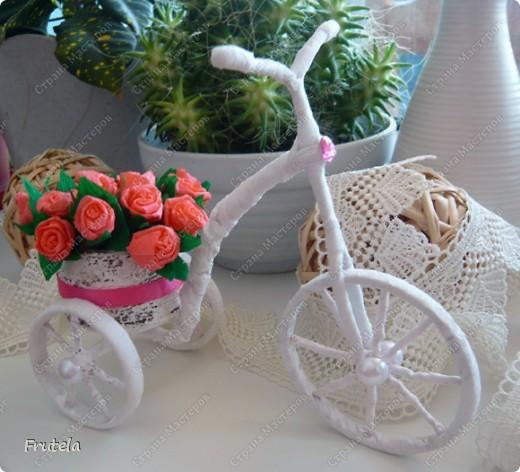 Насмотрелась я цветочных велосипедов,сделанных руками других мастериц ,вдохновилась и решилась на свой)) фото 1