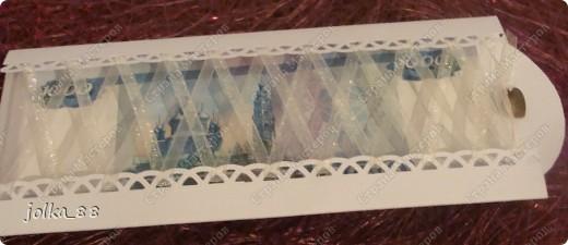 """Здравствуйте, дорогие мастера! Очень хочу поделиться с вами своим последним творением - свадебным конвертом """"Бело-С-нежность"""". Его идея возникла у меня практически как у Менделеева ) Долго ворочилась в кровати, сон не шёл... И тут возник образ этой открыточки. На следующий день реализовала своё видение-творение... фото 5"""