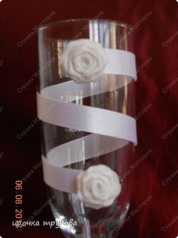 решила я занятся свадебными аксесуарами, это мои первые бокальчики!!! как вам??  фото 2
