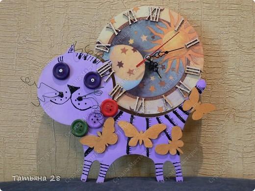 Никогда в своей жизни ни делала часы))) Можно сказать, что был Дебют))) Часы будут висеть в детской комнате. Завтра отдавать, а сегодня хочу показать Вам!!!  фото 1
