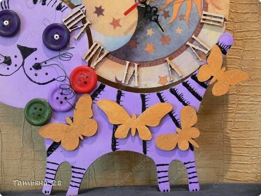 Никогда в своей жизни ни делала часы))) Можно сказать, что был Дебют))) Часы будут висеть в детской комнате. Завтра отдавать, а сегодня хочу показать Вам!!!  фото 3