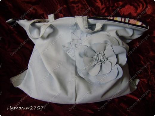 Здравствуйте! Решила сшить сумочку, точнее - я её слепила из того что было, вообщем из серии тяп-ляп :)) Прошу не судить строго. Хотя нет, можете. Мой дебют мастер - класса. фото 18
