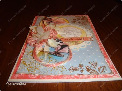 """Здравствуйте, мои дорогие! Сегодня я опять с бабочками. Продолжаю """"мучить скрап"""", и мне все больше и больше нравится это занятие. Наверно, пока не закончатся все бабочки на моей скраповой бумаге, так и будут летать на новых открытках...  фото 22"""