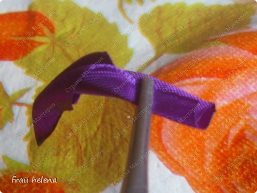 Попробовала заснять процесс изготовления вот такой хризантемы . фото 16