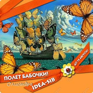 """Здравствуйте, мои дорогие! Сегодня я опять с бабочками. Продолжаю """"мучить скрап"""", и мне все больше и больше нравится это занятие. Наверно, пока не закончатся все бабочки на моей скраповой бумаге, так и будут летать на новых открытках...  фото 24"""