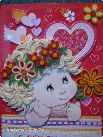 Всем добрый вечер! Я к Вам со своей новой открыточкой на день рождения подружки моей дочери. Я уже делала подобную открытку http://stranamasterov.ru/node/380886. Эта открытка чуть побольше и я ее оформила в виде книжки, чтобы ее можно было поставить на стол. А что получилось - судить Вам. фото 1