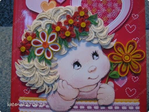 Всем добрый вечер! Я к Вам со своей новой открыточкой на день рождения подружки моей дочери. Я уже делала подобную открытку http://stranamasterov.ru/node/380886. Эта открытка чуть побольше и я ее оформила в виде книжки, чтобы ее можно было поставить на стол. А что получилось - судить Вам. фото 2