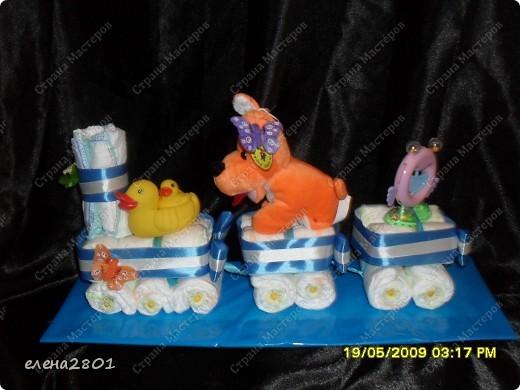 Здравствуйте дорогие мастерицы! На просторах интернета очень много фото с тортами из памперсов,просмотрев которые ,мне тоже захотелось их сделать. Что из этого получилось,судить вам......... Улитка.... фото 6