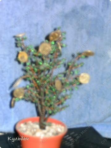 Осенне дерево. Бисер блестит, поэтому сливается в одно пятно... фото 6
