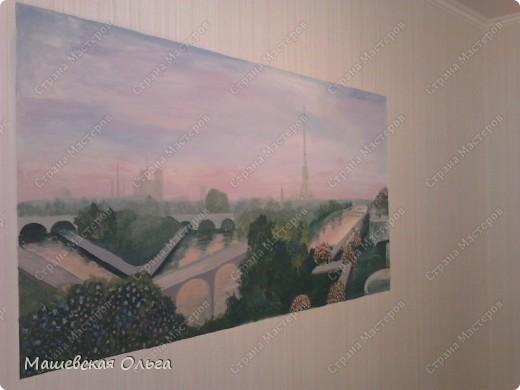 Эта работа-мой первый опыт в росписи стен. фото 4