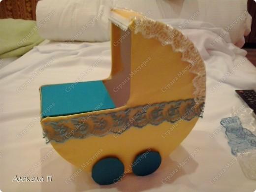 Вот такая колясочка у меня получилась. Сейчас расскажу как ее сделала. фото 9