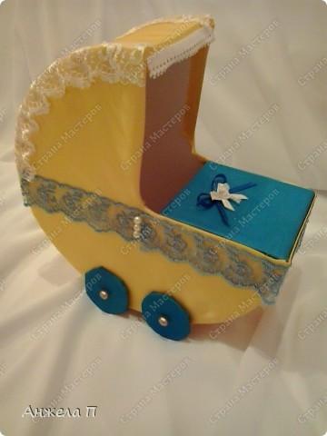 Мастер-класс Поделка изделие День рождения Свадьба Моделирование конструирование Коляска МК Бисер Бусинки Картон Ткань.