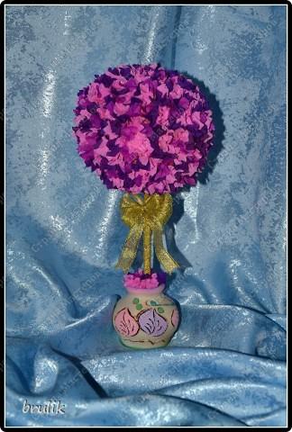 Цветочный бонсай из гофрированой бумаги