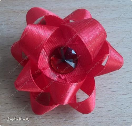Мастер-класс Украшение Цумами Канзаши Цветы из лент за 5 минут Картон Ленты фото 13