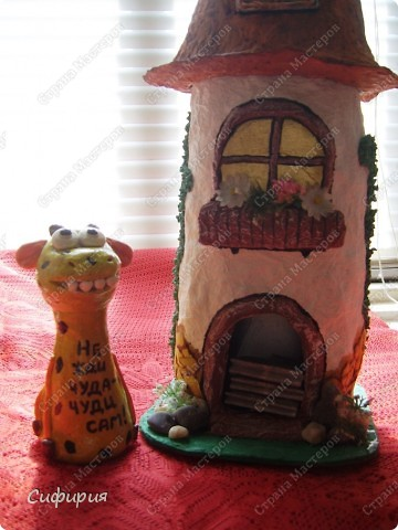 Доброго денька! А я сегодня с чайным домиком! Вдохновение поймала от Олечки (Захария), такие у нее домики замечательные, что я решила, буду и себе делать! фото 33