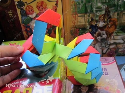 Радужная пружинка СЛИНКИ оригами))) фото 49