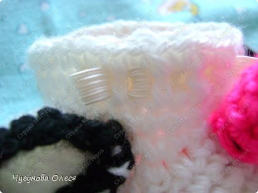 Гардероб Мастер-класс День рождения Вязание Вязание крючком МК пинетки Коровы Нитки фото 24