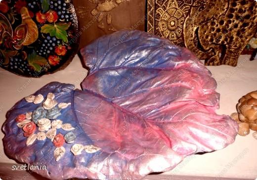 Листья с розами из гипса! фото 7