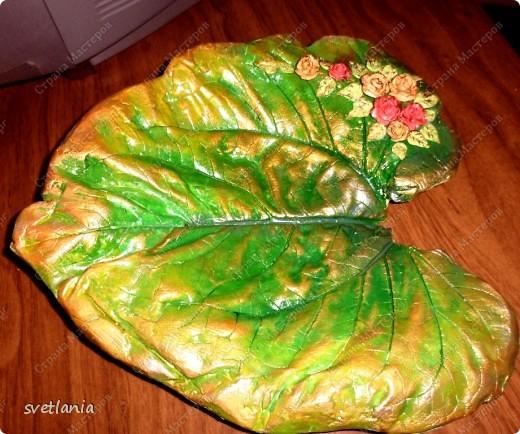 Листья с розами из гипса! фото 8