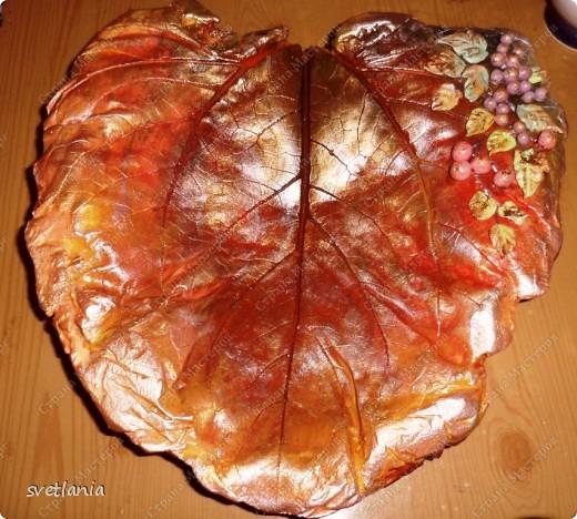 Листья с розами из гипса! фото 9