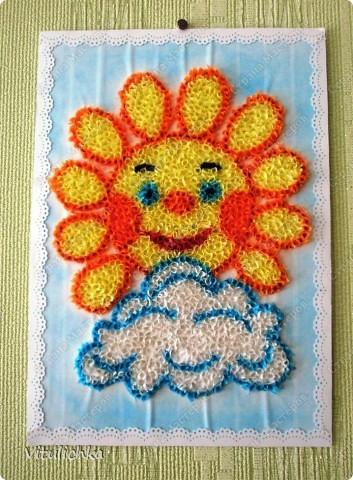 Поделка изделие Торцевание Солнышко Бумага гофрированная фото 3