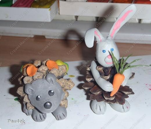 Поделки для детского сада своими руками на тему осень из шишек