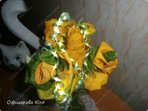 Мои первые цветочки, из листьев клена фото 2