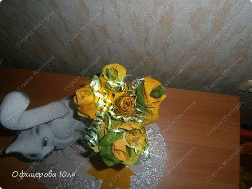 Мои первые цветочки, из листьев клена фото 3