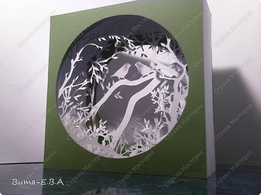 Поделка изделие День рождения Бумажный туннель Вырезание Птичий концерт  Бумага Клей фото 8