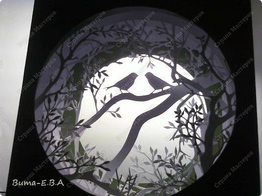 Поделка изделие День рождения Бумажный туннель Вырезание Птичий концерт  Бумага Клей фото 9