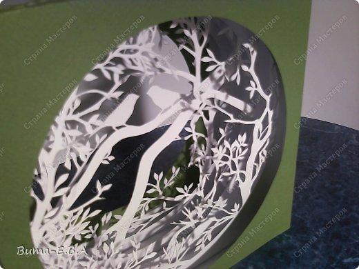 Поделка изделие День рождения Бумажный туннель Вырезание Птичий концерт  Бумага Клей фото 12