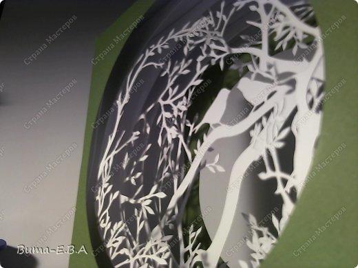 Поделка изделие День рождения Бумажный туннель Вырезание Птичий концерт  Бумага Клей фото 13