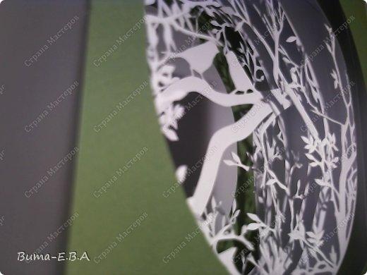 Поделка изделие День рождения Бумажный туннель Вырезание Птичий концерт  Бумага Клей фото 14