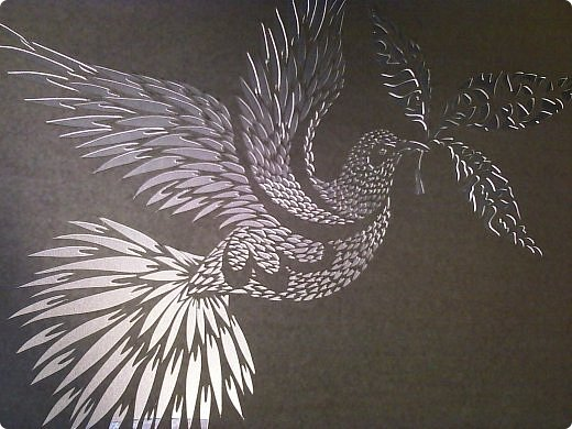 Здравствуйте мои дорогие!!!!! Хочу показать вам еще одну прелестную пташку из работ Lois Corderlia.  Когда я ее увидела, сразу загорелась желанием ее вырезать...  фото 11